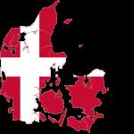 پرچم دانمارک- نقشه دانمارک - Denmark-flag