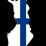 پرچم فنلاند- نقشه فنلاند - Finland-flag
