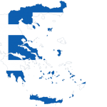 پرچم یونان- نقشه یونان -Greece-flag