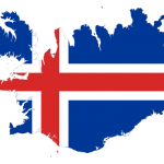 پرچم ایسلند- نقشه ایسلند - Iceland-flag