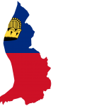 پرچم لیختناشتاین- نقشه لیختن اشتاین - Liechtenstein-flag