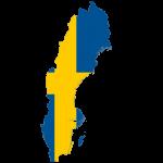 پرچم-سوئد- نقشه سوئد - Sweden-flag