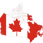 پرچم کانادا- نقشه کانادا - canada-flag